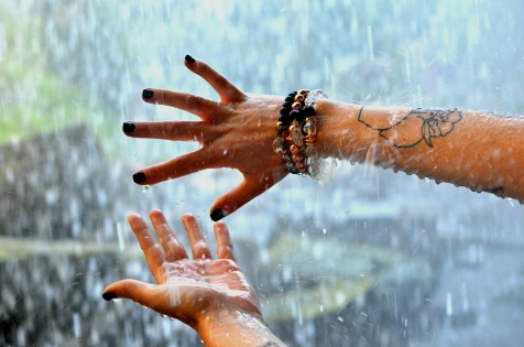 Bracelets and waterfall