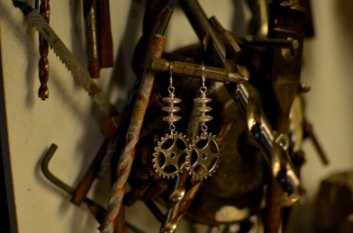 Cog Earrings