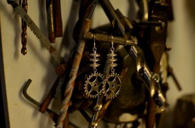 Cog Earrings