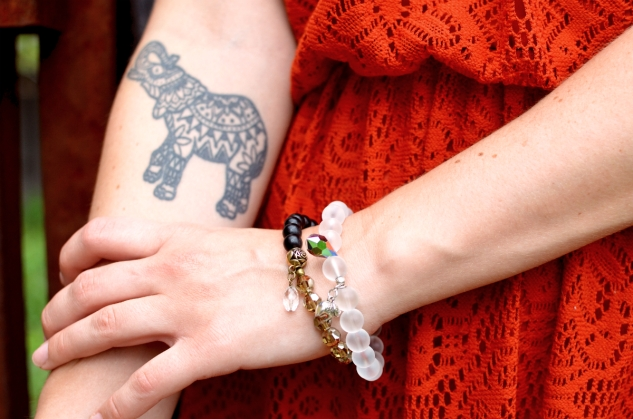 Elephant and Gonka Bracelets