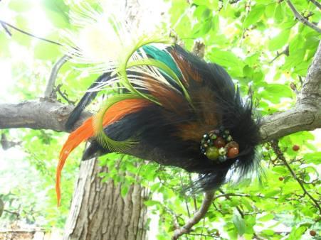Maraboo Peacock Ostridge Rooster - Nina Spade