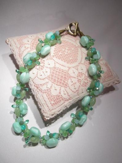 Mint Chunky Necklace - Nina Spade
