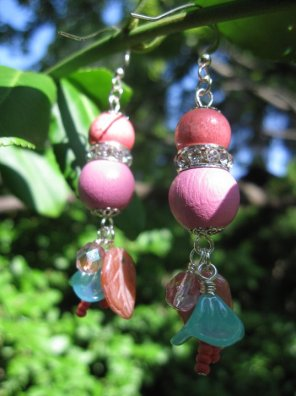 Pink and Blue Earrings - Nina Spade