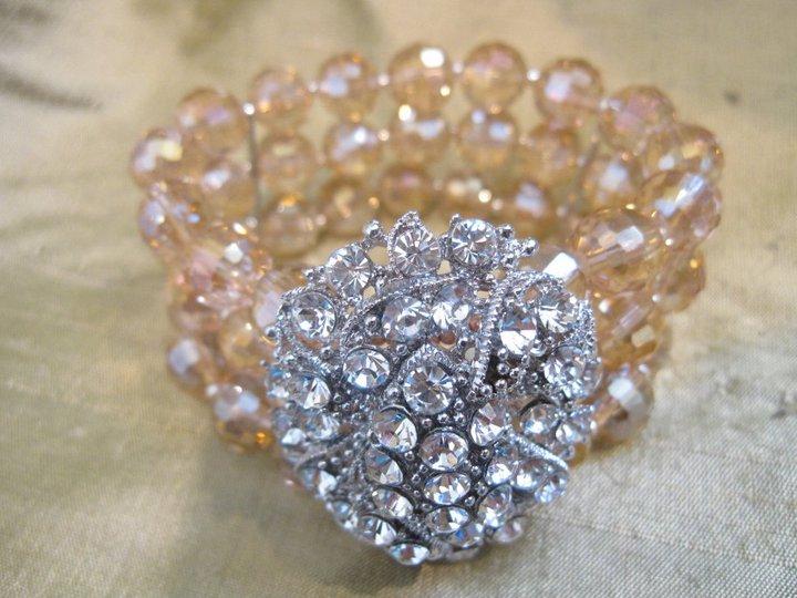 Reworked Crystal Broach Bracelet - Nina Spade