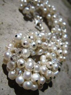 Sterling Silver Pearl and Swarovski - Nina Spade