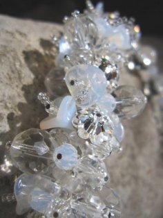 Swarovski and Glass Floral - Nina Spade