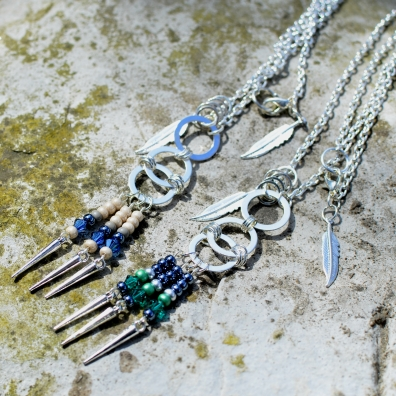 Swarovski and Seed Bead Necklaces
