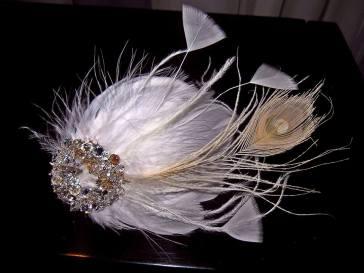 Swarovski Custom Bridal Fascinator - Nina Spade