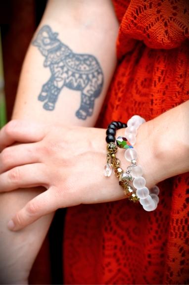 Elephant and Gonka Bracelet