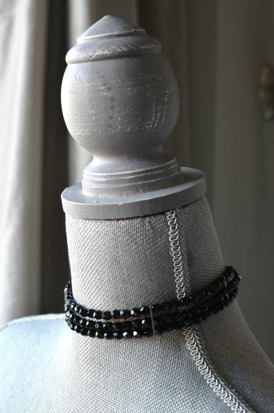 Black Choker with Jablonex Czech Glass