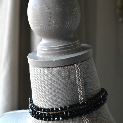 Black Choker with Jablonex Czech Glass