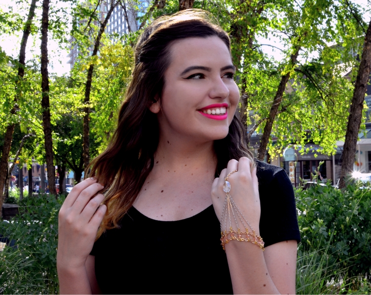 Mikayla and her custom Crystal Hand Bracelet
