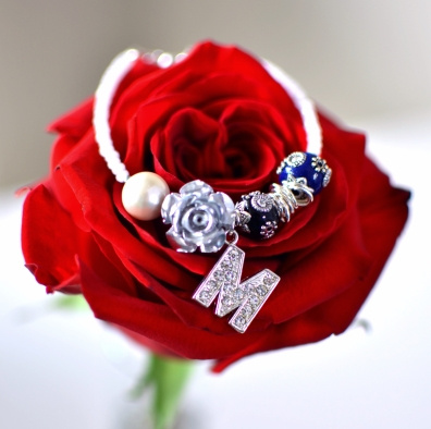 White & Silver Combo Mom Bracelet