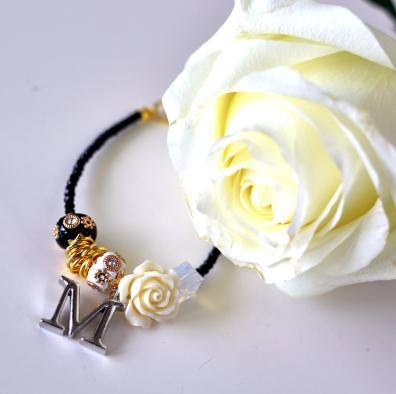 Black & Gold Combo Mom Day Bracelet