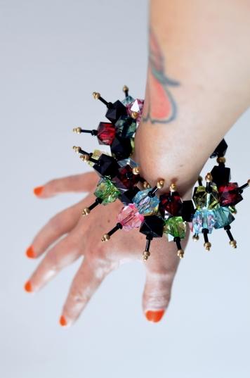 Resin Crystal Spray Bracelet